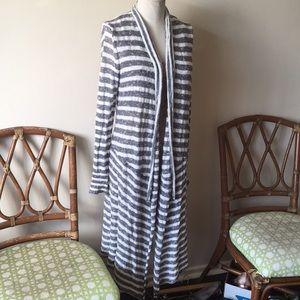 Free people long cozy knit cardigan coat